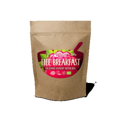 Raw Organic LIFE BREAKFAST Bowl Macadamia Raspberry Protein