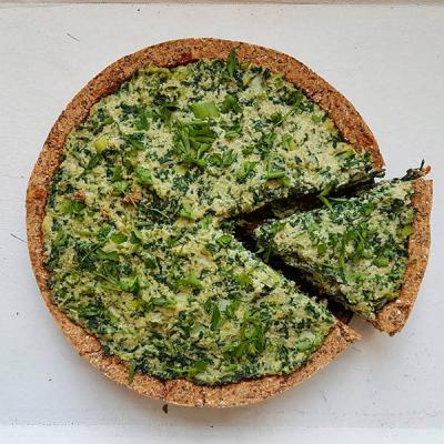 Spinach and Cream Quiche