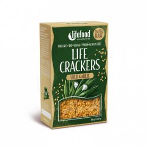 Raw Organic Wild Garlic Life Crackers