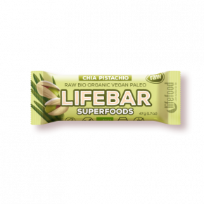 Raw Organic Lifebar Superfoods Chia Pistachio