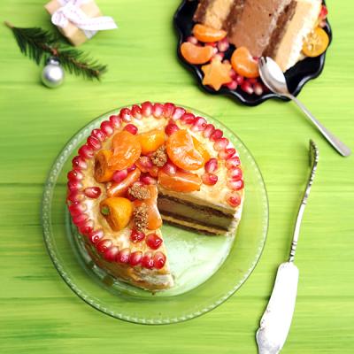 Gelaagde Persimmon Cake