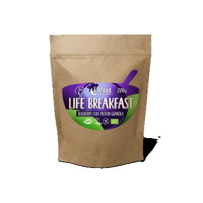 Life Breakfast Bosbessen Chia Proteïne Granola RAW & BIO