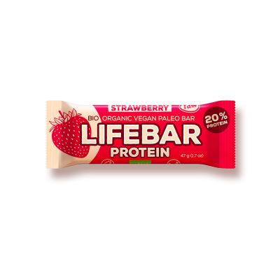 Lifebar Proteïnereep Strawberry RAW & BIO