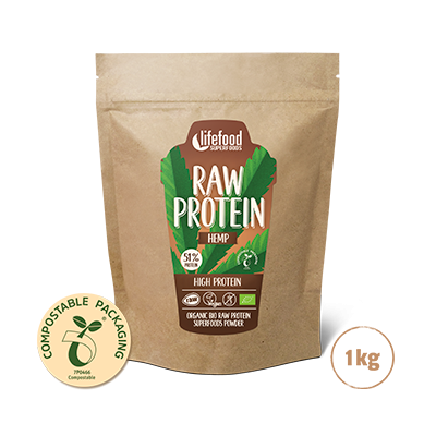 Superfood Proteïnepoeder Hemp Power RAW & BIO 1kg