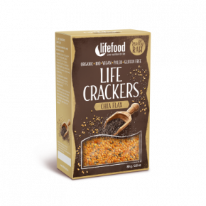 Life Crackers Chia Lijnzaad RAW & BIO
