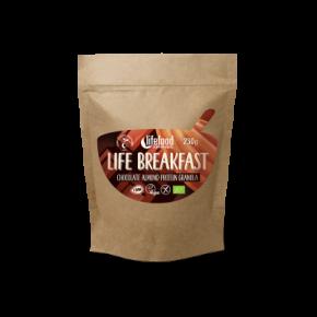 Life Breakfast Chocolade Amandel Proteïne Granola RAW & BIO
