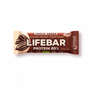 Lifebar Proteïnereep Chocolate Green RAW & BIO
