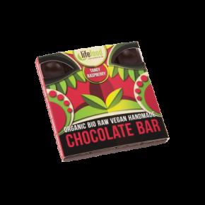 Rauwe Chocolade Framboos BIO 35 g